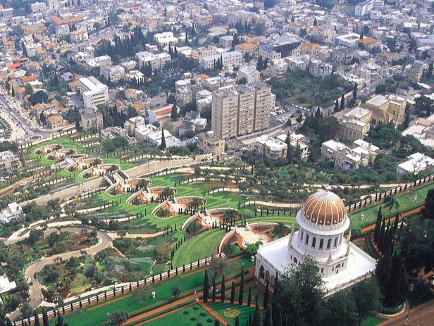 The immaculately landscaped Baha'i Gardens in Haifa