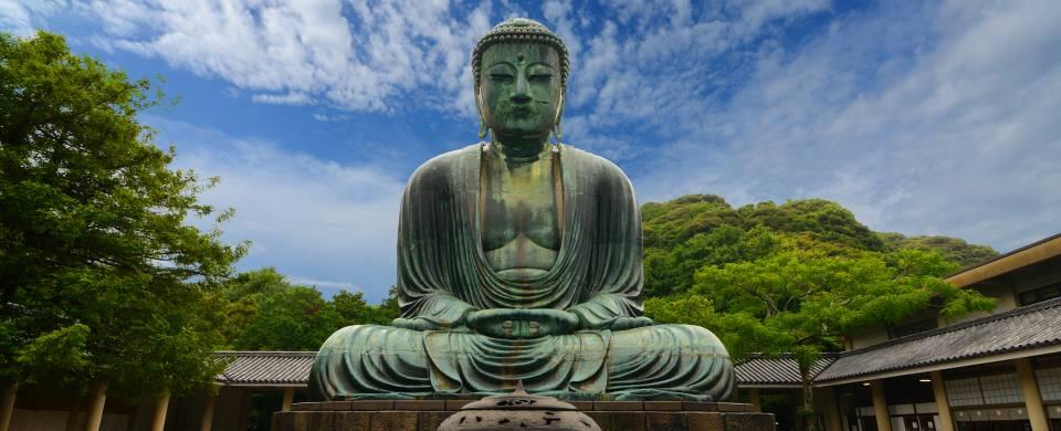 Giant Buddha of Kamakura made from bronze