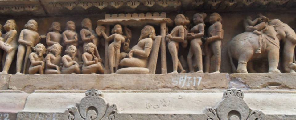 The architectural brilliance of the temples in Khajuraho.