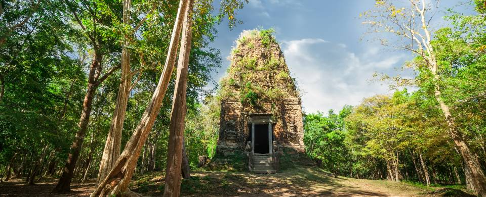 Magnificent ruins being taken over by nature in Kompong Thom