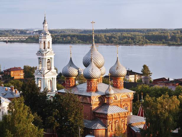 View of the Church of Voskresenie in the Grove in Kostroma