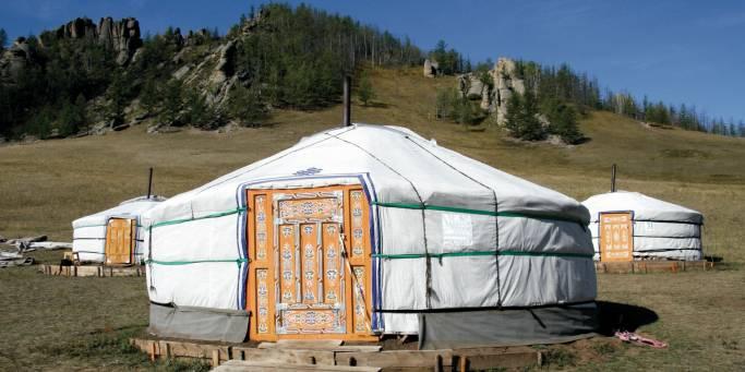 Mongolian Ger Tent | Trans-siberian Railway |  Mongolia