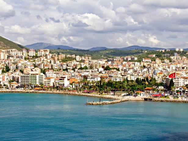 View of Kusadasi from across the water