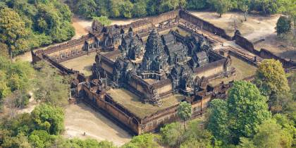Left hand menu image - aerial view of temples