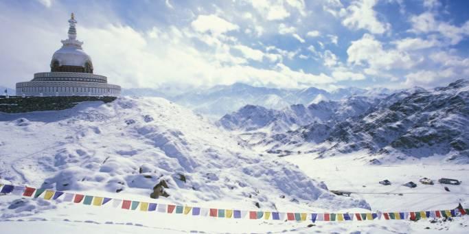 Winter landscape   Leh and Ladakh   India