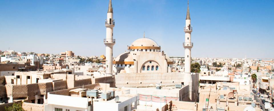 One of the beautiful mosques that make up the city of Madaba