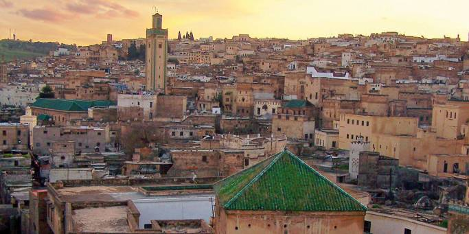 The Marrakech skyline   Morocco