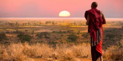 Masai Man watching sunset - Africa Overland Safaris - Africa Lodge Safaris - Africa Tours - On The G