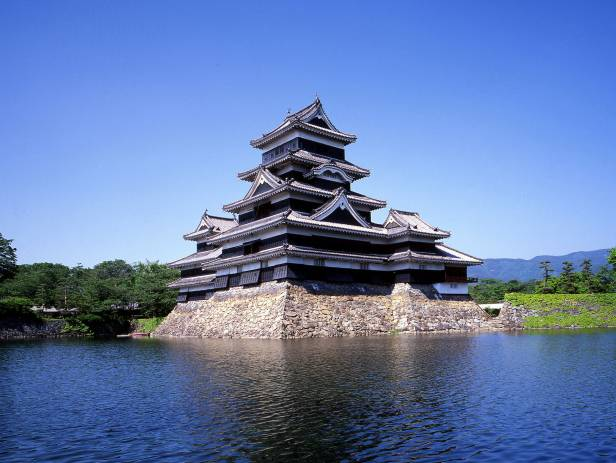 View of Matsumoto Castle from across the water