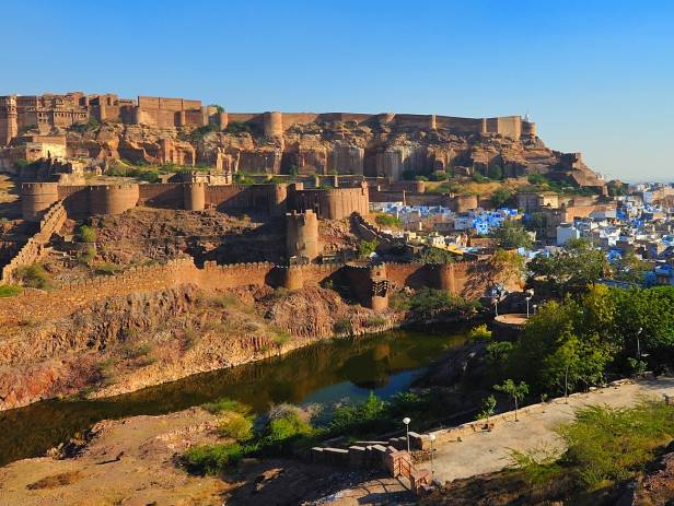 Blue City and Mehrangarh Fort in Jodhpur
