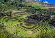 The distinctive circular terraces of Moray in the Sacred Valley