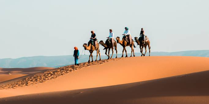 Camel trekking in the Sahara | Morocco