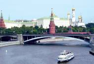 Sightseeing cruise boat on the Moscow River