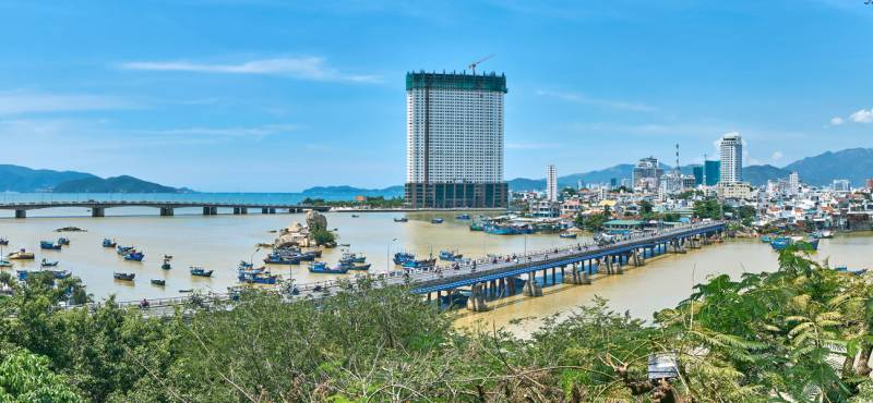 Panoramic view of Nha Trang city, Vietnam where we offer day tours and guided excursions