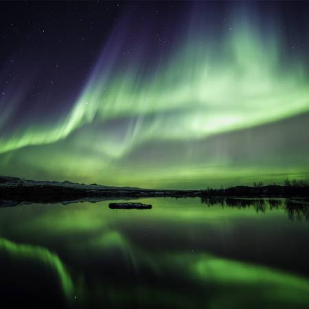 Northern Lights in Thingvellir National Park - Iceland Golden Circle - On The Go Tours