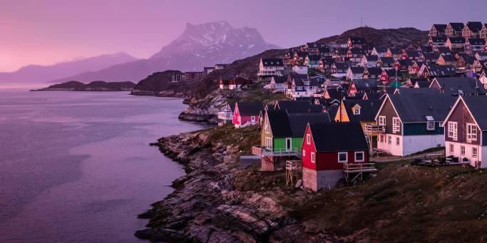 Nuuk at sunset | Greenland