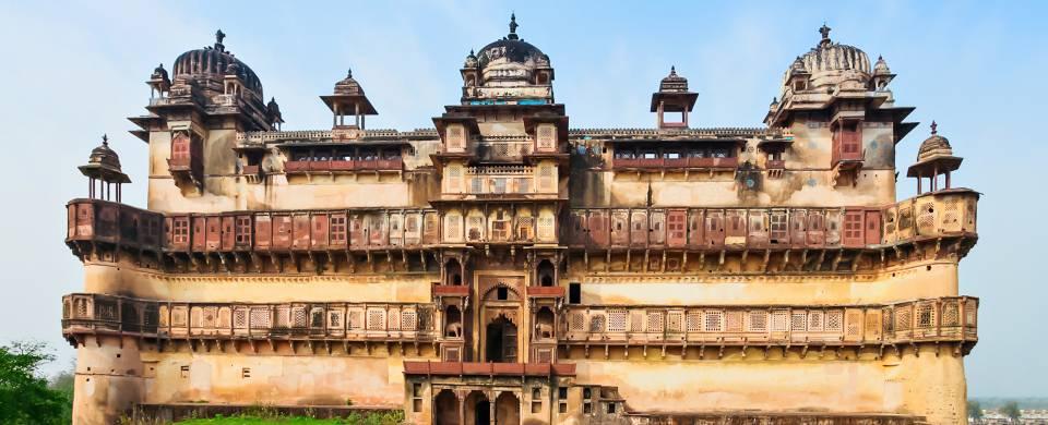 Ochha Fort, also known as Jehangir Mahal in Ochha