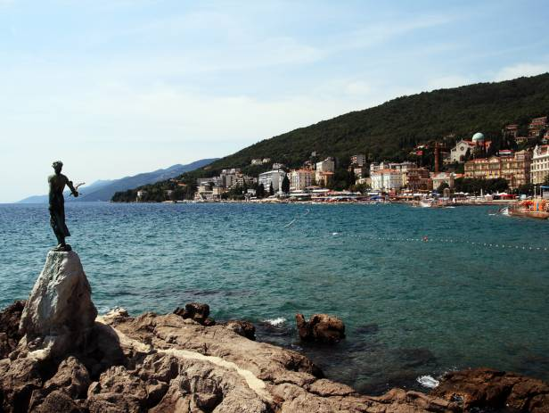 The Maiden and the Seagull Statue in Opatija Croatia