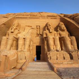 Outside of the Abu Simbel Ramses Temple - Egypt - On The Go Tours