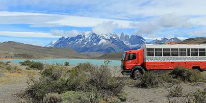 Overland truck in South America