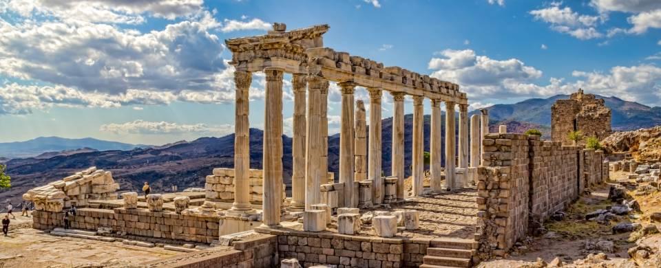 The ancient ruins of Pergamum