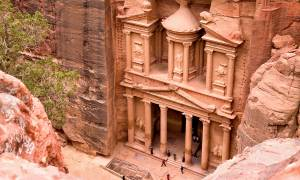 Petra Treasury from above - Jordan Tours - On The Go Tours copy
