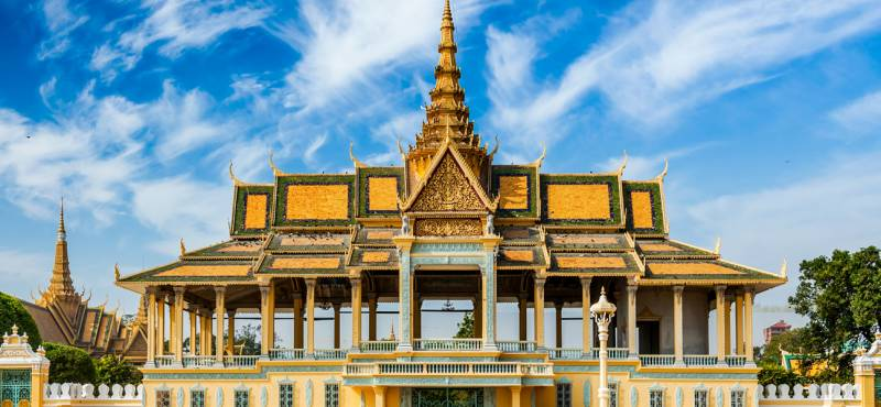 Royal Palace complex in Phnom Penh, Cambodia