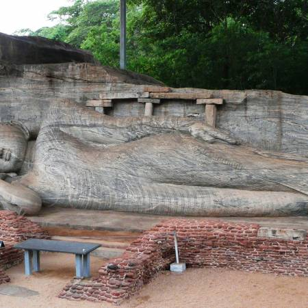 Polonnaruwa reclining Buddha - Sri Lanka Tours - On The Go Tours