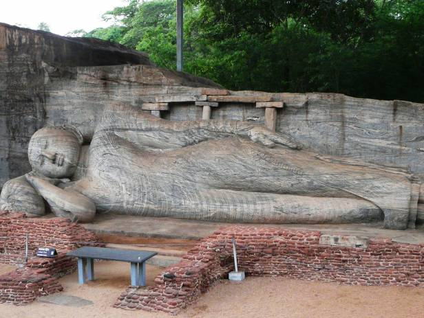 The ancient ruins of Polonnaruwa