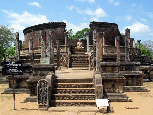The ancient ruins of Polonnaruwa