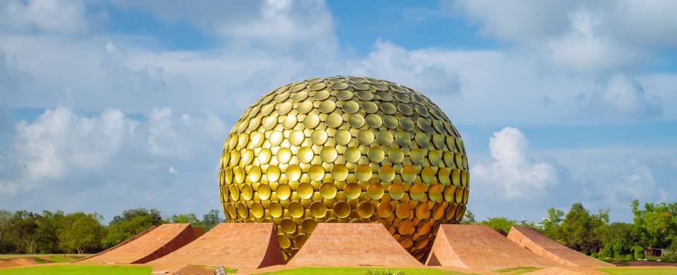 The Golden Temple of Auroville in Pondicherry