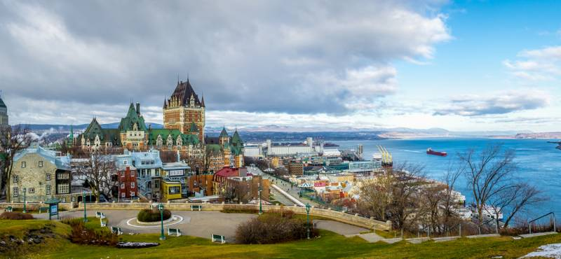 The attractive skyline of Quebec City in Canada
