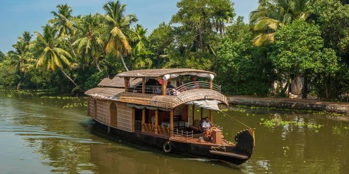 Rice boat in Kerala | India