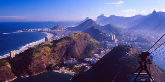 Cityscape of Rio de Janeiro in Brazil