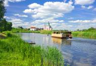 A scenic boat cruise on the Kamenka River in Suzdal
