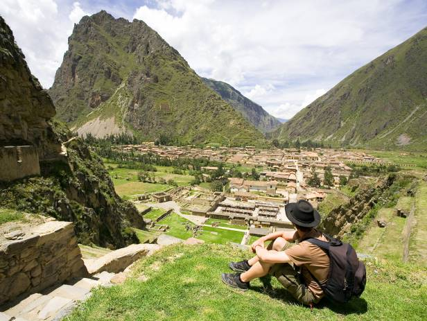 The impressive mountain views of the Sacred Valley in Peru
