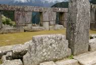 Picture of the three-windowed temple at the Sacred Plaza in Machu Picchu