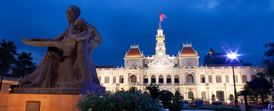 Saigon City Hall in the early evening light