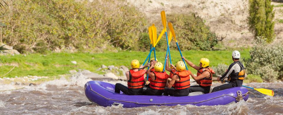 White water rafting on the rivers that run through San Gil, Colombia's adventure-sports capital