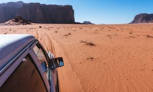 Self Drive Jordan main image - driving in Wadi Rum