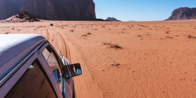 Driving in the Wadi Rum Desert | Jordan