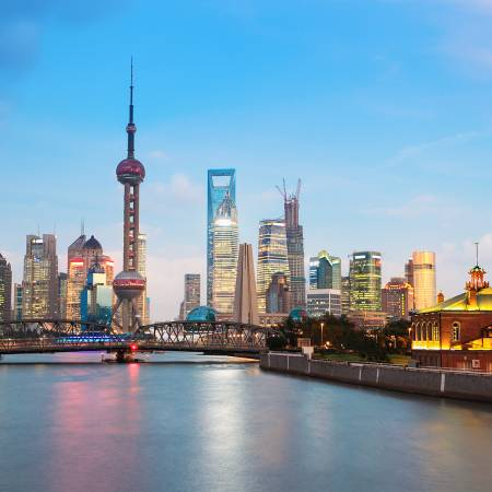 Shanghai skyline - China Tours - On The Go Tours