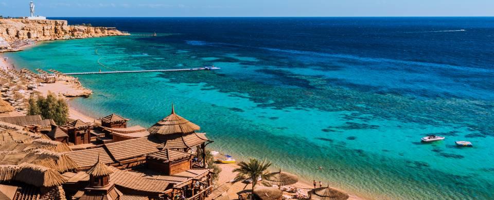 Luxury resort along the pristine beach of Sharm el Sheikh