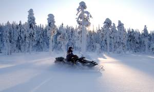 Snowmobiling - Christmas in Finland - On The Go Tours