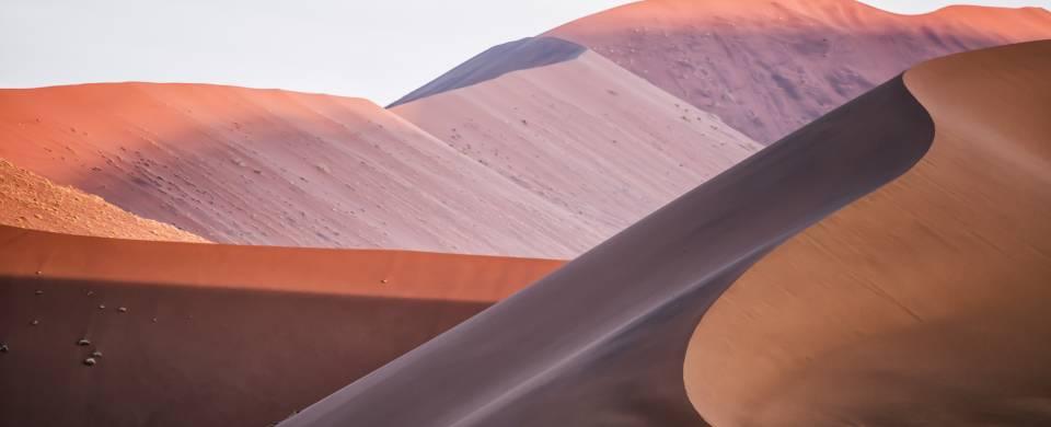 The orange sand dunes of Sossusvlei