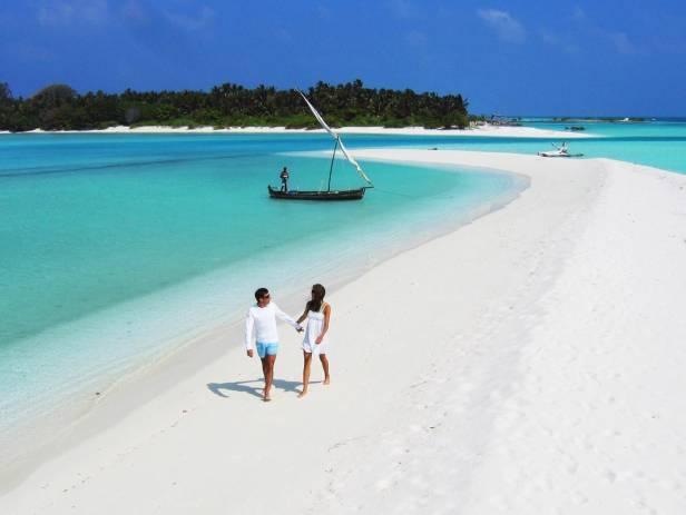 Maldives Beach Couple