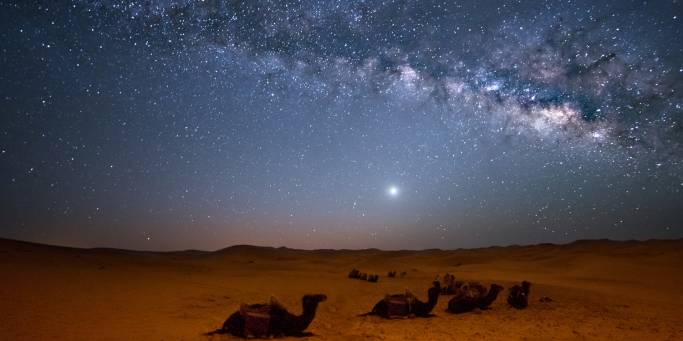 Stars Shining Over the Sahara Desert | Morocco
