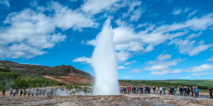 Eruption at Strokkur | Golden Circle | Iceland