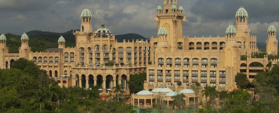 View of the exterior of the main part of the Sun City resort