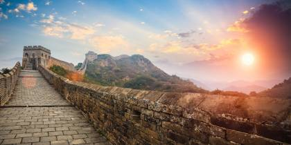 Sunrise at Great Wall